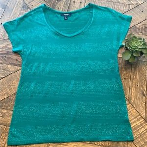 NWOT Green and Silver Old Navy Tee